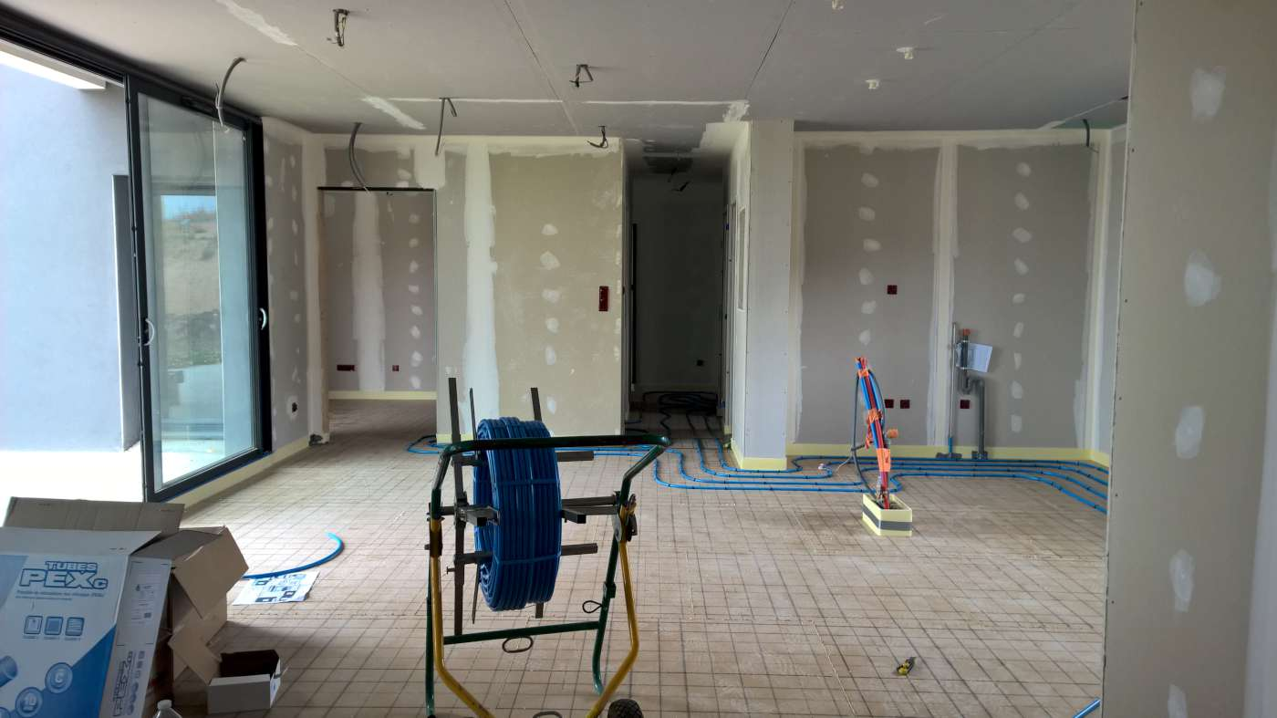 Renovation energetique pompe a chaleur chauffage au sol 81000 albi castres albi tarn for Plancher chauffant renovation